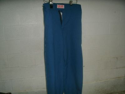 Find LEAF NOMEX FIRESUIT PANTS 4 XL BLUE WITH WHITE STRIPES AND WHITE CUFFS NEW motorcycle in Jefferson, Ohio, United States, for US $49.00