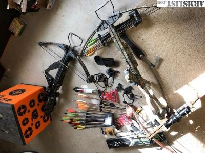 For Sale/Trade: 3 crossbows,block target, many arrows.