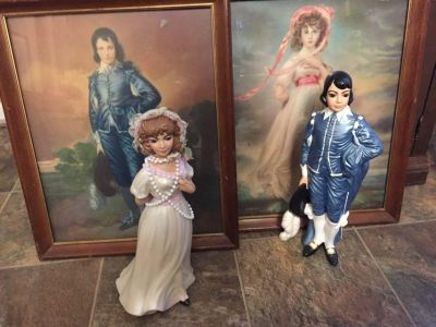 Pictures and figures of porcelain dolls.