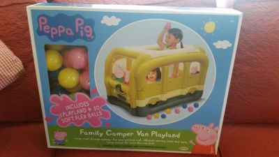 Peppa Pig inflatable Camper Van Ball Pit- New in Box!