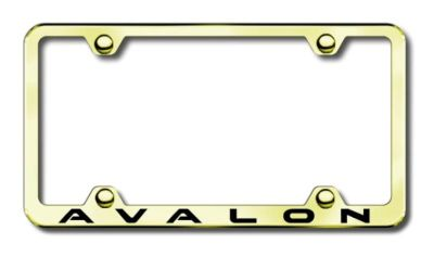 Sell Toyota Avalon Wide Body Laser Etched Gold License Plate Frame -Metal Made in US motorcycle in San Tan Valley, Arizona, US, for US $39.75