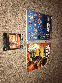 VGUC 3-PIECE SET PF STAR WARS STICKERS/FACTS/COLORING PAGES