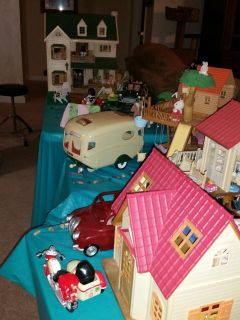 Calico Critter ENTIRE CITY of Adorable Critters & Dollhouses!