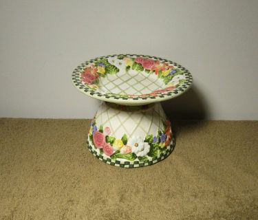 Salt City Candle Beautiful Ceramic Floral Shade & Plate