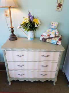 Refinished French provincial dresser