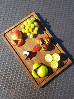 Walnut Cutting Board with Rounded Edges and Juice Groove