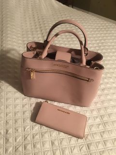 Michael Kors Rose Pink Purse and Wallet