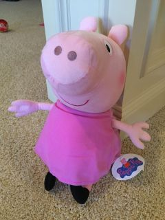Large stuffed peppa pig - new with tags