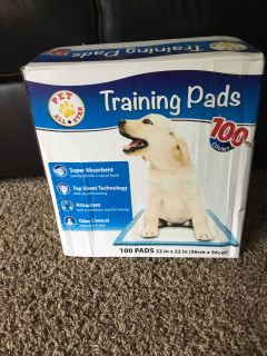 Trying pads for dogs