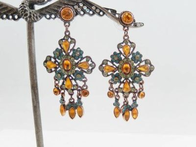 Earrings - Joan Rivers Signed - Chandelier