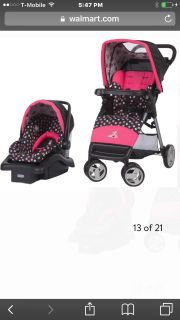 Baby girl Disney car seat and stroller side impact protection