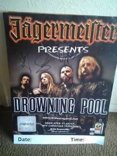 Drowning Pool autographed Poster