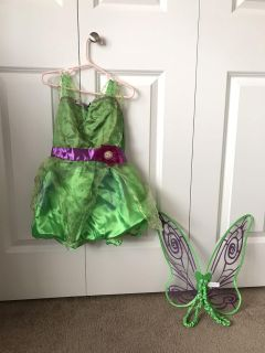 Tinkerbell costume - size 2-3