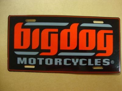 Purchase BIG DOG MOTORCYCLES AUTO LICENSE PLATE SIGNATURE LOGO CHOPPER PITBULL K-9 motorcycle in Lyons, Kansas, United States, for US $19.99