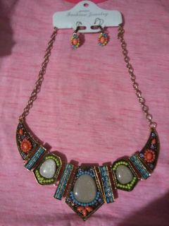 Jewerly set ( necklace , earrings)