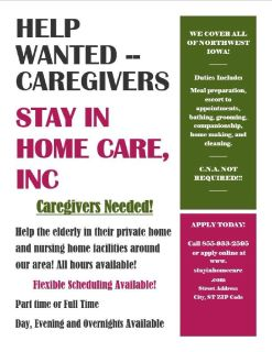 Caregivers Wanted!!