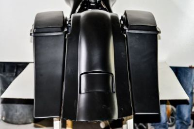 Sell 97-08 Harley Bagger Stretched Saddle Bags Rear Fender for Touring Flh Bagger motorcycle in Lake Worth, Florida, United States, for US $756.00