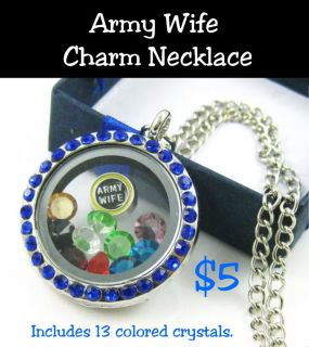 ARMY WIFE CHARM NECKLACES