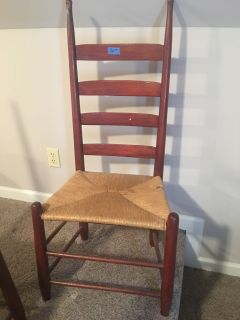 Several antique chairs