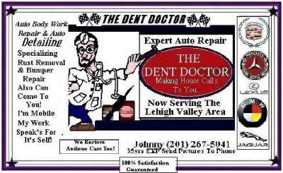 Dent Doctor Auto-Body Repair At Honest Low Fair Prices! (Easton P.A.)