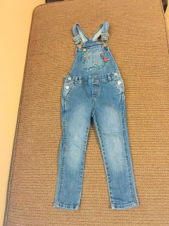 Baby Gap Jean Spring Floral Embroidered Overalls
