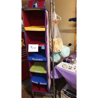 Adorable organizer for kids room!