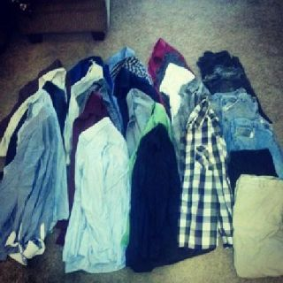 TONS and TONS of men's clothes