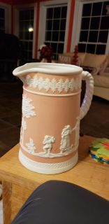 Large pink pitcher...wedgewood?