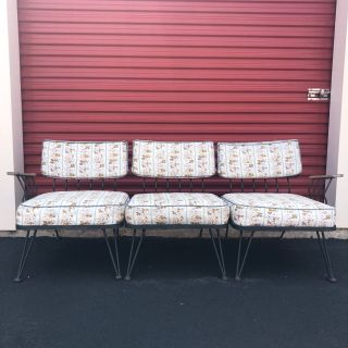 Mid century wrought iron sectional sofa