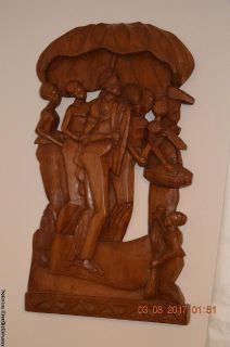 Africa Wall Mounted Wood Carving