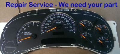 Find Repair Rebuild SERVICE 2003 Chevrolet Suburban Gauge Cluster Speedometer motorcycle in Racine, Wisconsin, United States, for US $64.99