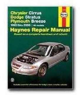 $8 Chrysler Car Repair Manual for Dodge Stratus and Plymouth Breeze