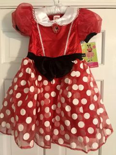 NEW Minnie Mouse Costume S(4-6X)