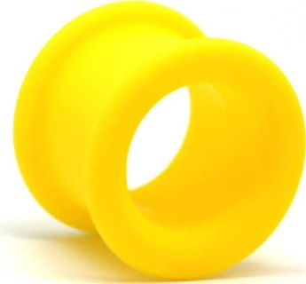 Yellow silicone tunnels body jewelry