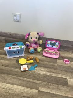 Vtech/leapfrog learning sounds and more laptop$27