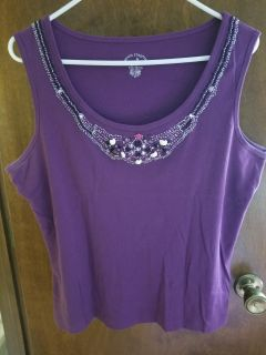 White Stag embellished tank top