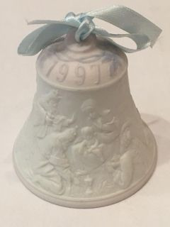 Vintage 1997 Lladro Porcelain Christmas Bell -Collectible