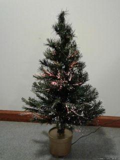 FIBER OPTIC DESK TABLE TOP CHRISTMAS TREE