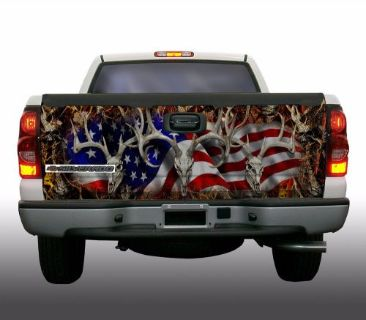 Sell American Buck 2 camouflage truck tailgate vinyl graphic decal wraps motorcycle in Ironwood, Michigan, United States, for US $69.95