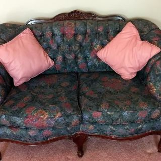 Floral Settee Loveseat