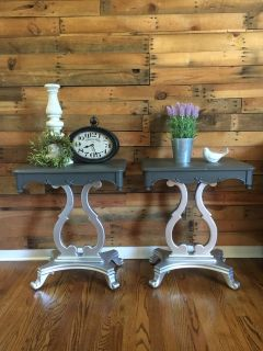 Farmhouse glam end tables/ night stands