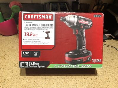 Craftsman 1/4in Impact Driver