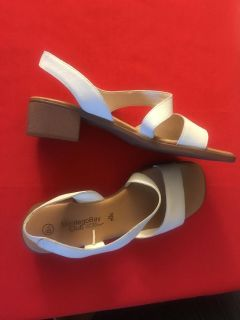 WHITE SANDALS... by ...Montevideo Bay Club.. SIZE 8.5 ...Really cute on..