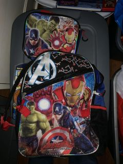 Backpack with lunch box
