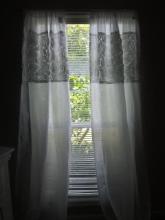 2 panel curtains and rod with hardware
