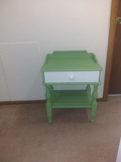Unique meadow colored side table