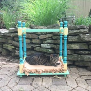 Hand Painted Whimsical Small Pet Bed