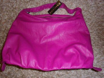 New Ladies Pink Rampage Leather Shoulder HANDBAG PURSE Women Fashion