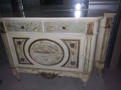 Vintage Beautiful French Style VANITY  DRESSER MIRROR