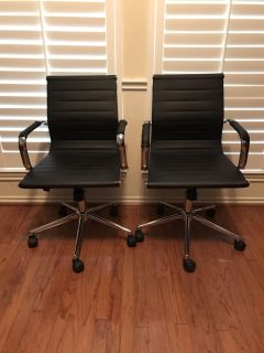 Matching office desk chairs